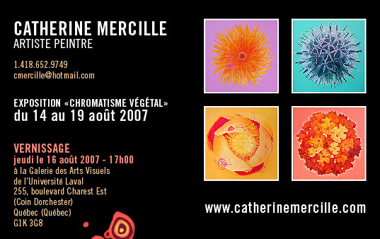 Carton d'invitation Catherine Mercille